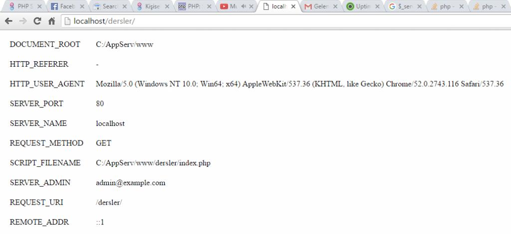 php-server-sunucu-global-degisken-ekran-ciktisi