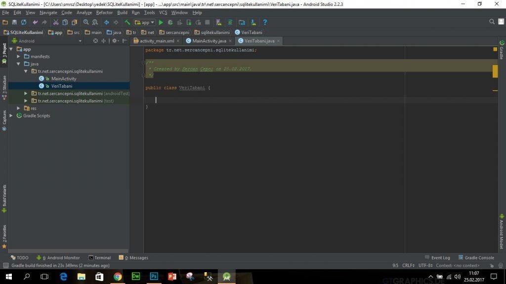 Android Java Class Olusturma 3