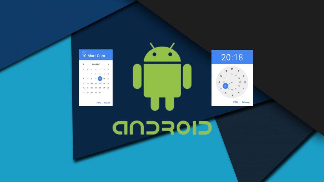 Android Date Time Picker Kullanımı