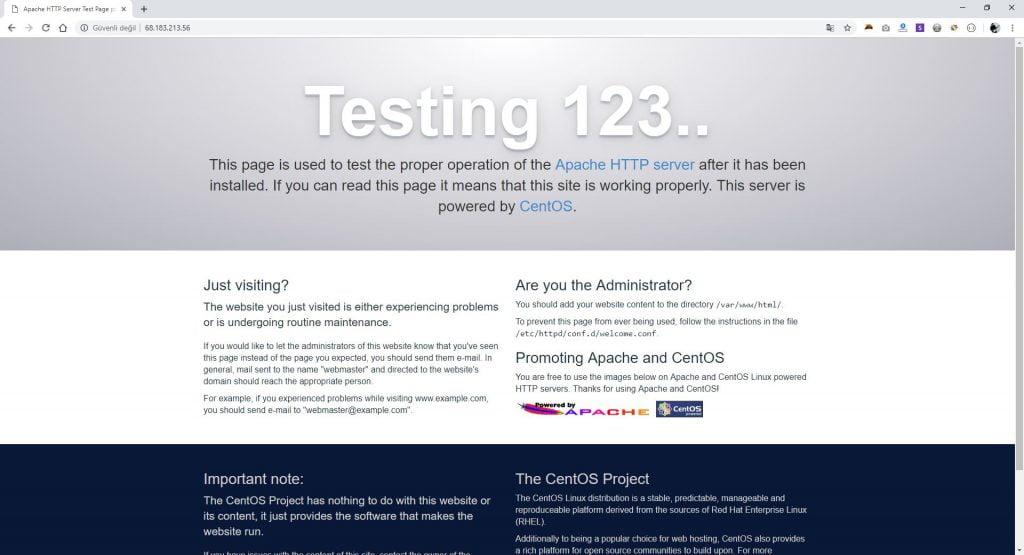 Apache Test Sayfası